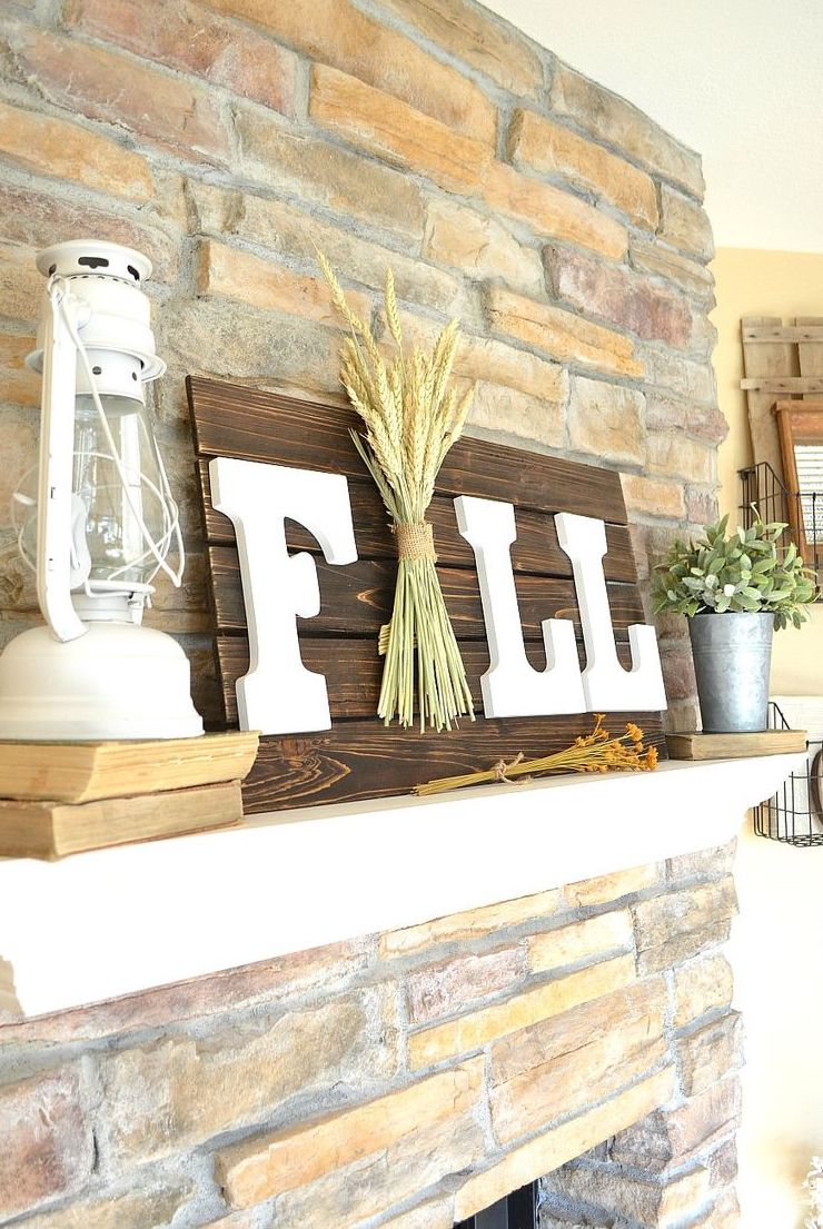 DIY Fall Wheat Sign via sarahjoyblog
