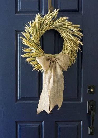 DIY Fall Wheat Wreath via onsuttonplace