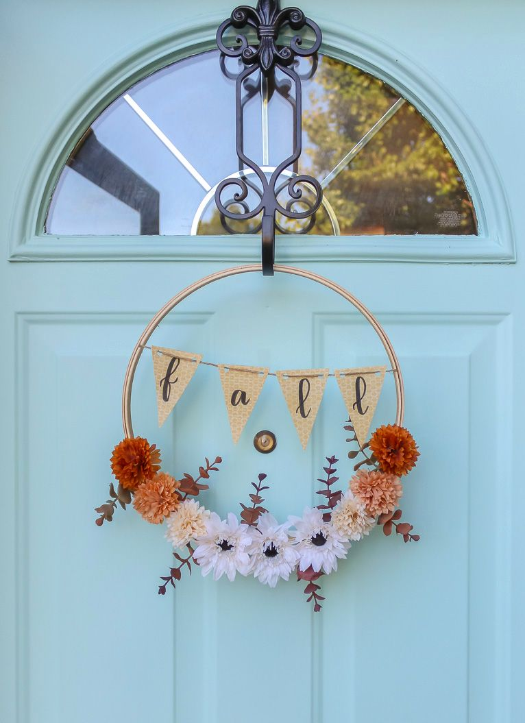 55 Diy Fall Wreaths That Are Easy And Inexpensive To Make