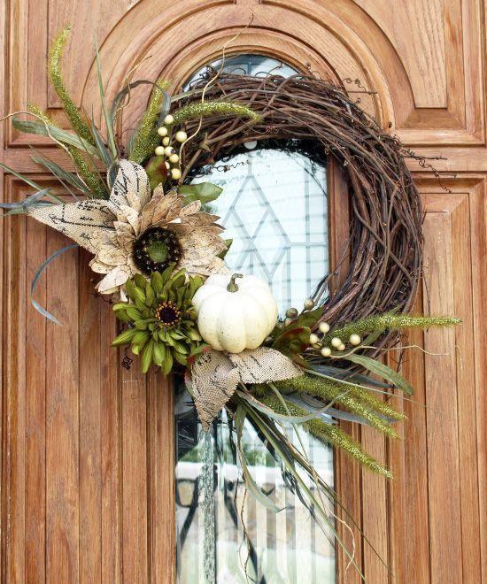 DIY Fall wreath via confessionsofaserialdiyer