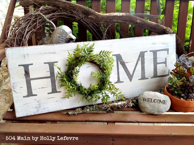 DIY Farmhouse Home Sign via 504main