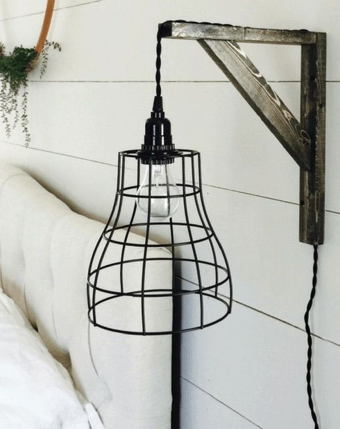 DIY Farmhouse Pendant Light via createandfind