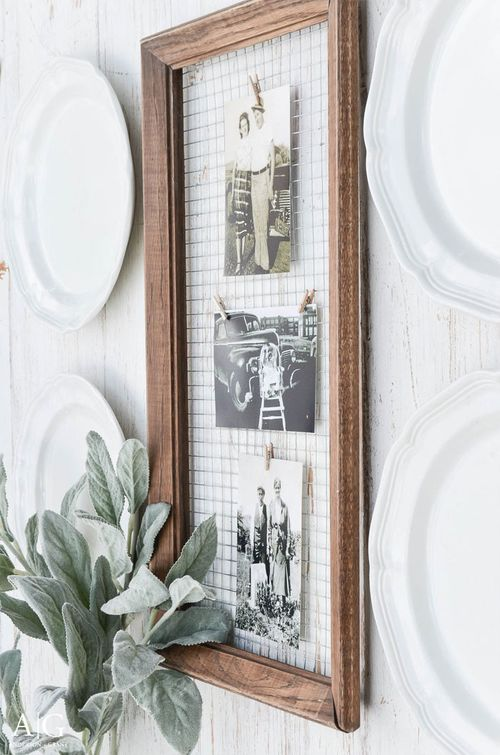 DIY Farmhouse Picture Frame via andersonandgrant