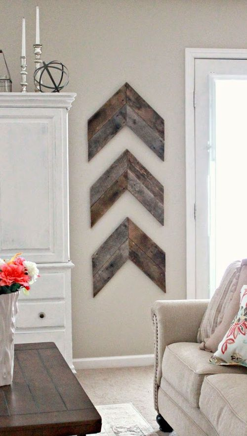 DIY Farmhouse Wood Arrows for Wall via little-brick-house