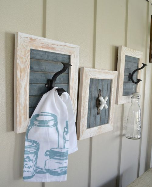 DIY Farmhouse wall hooks via mycreativedays