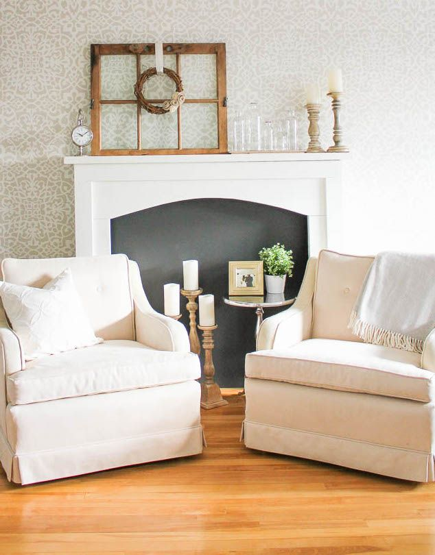 DIY Faux Fireplace via homemadelovely