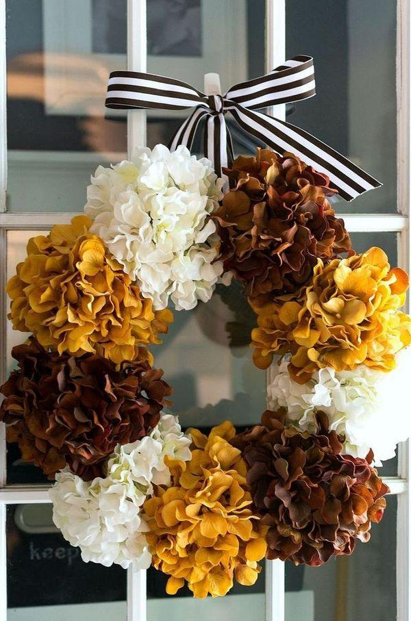 DIY Hydrangea Fall Wreath via itallstartedwithpaint
