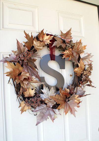 DIY Metallic Fall Wreath via frugalflourish