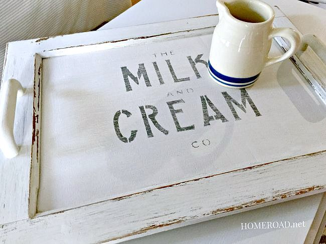 DIY Old Cabinet Door Serving Tray via HomeRoad
