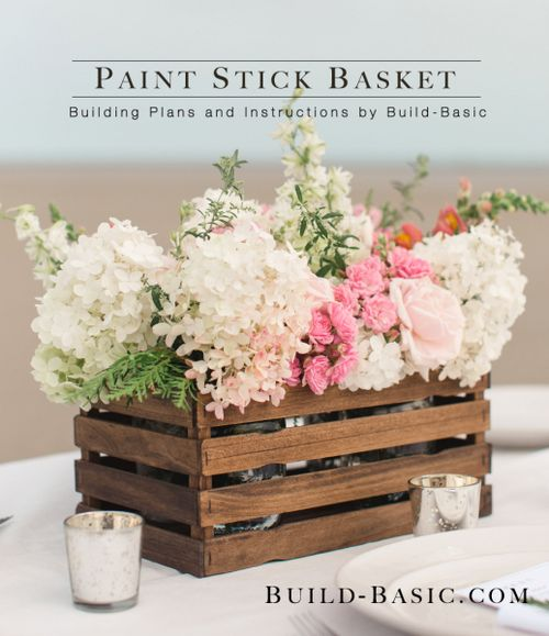 DIY Paint stick basket via build-basic