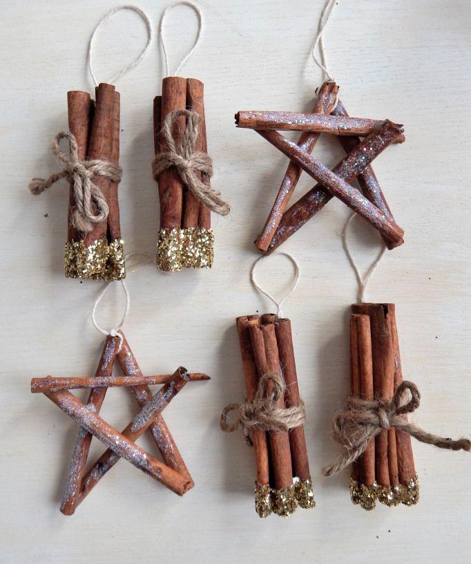 DIY Rustic Cinnamon Stick Ornaments via considerthepeel