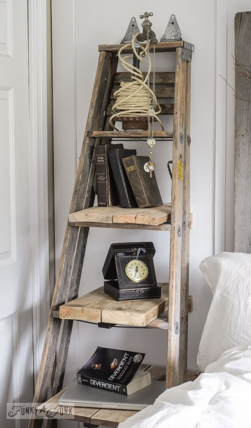 DIY Step Ladder Side Table via funkyjunkinteriors