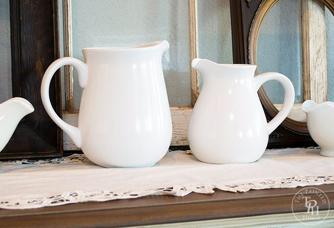 DIY Thrift Store Pitchers Makeover via thepaintedhinge