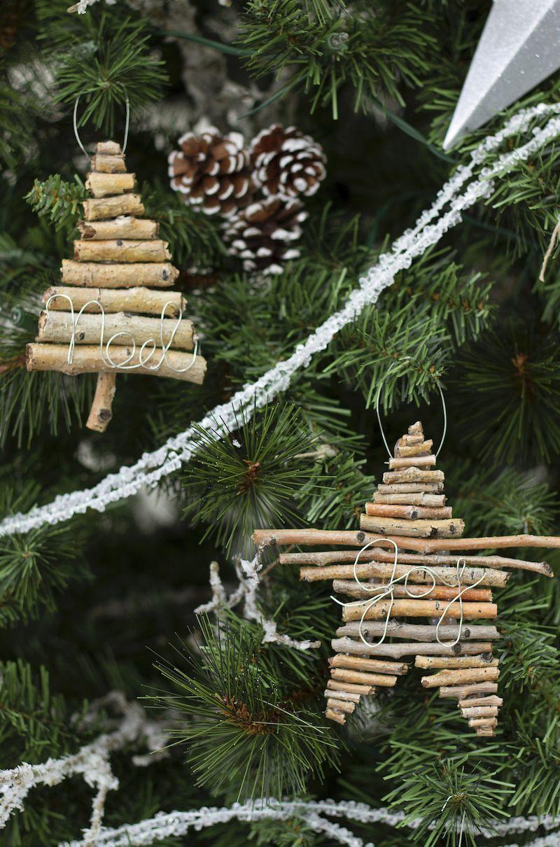 DIY Twig and Wire Ornaments via u-createcrafts