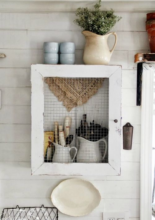 DIY Wood Crate Cabinet via KnickofTime