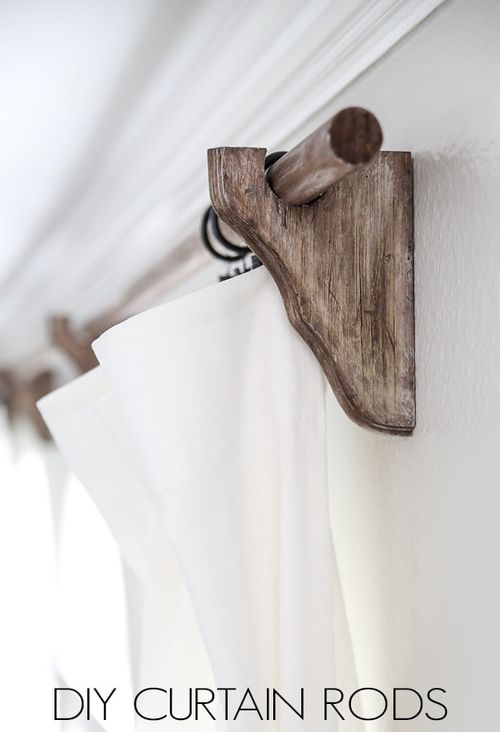 DIY Wood Farmhouse Curtain Rods via maisondepax