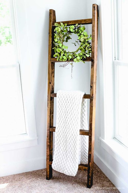 DIY Wood Ladder via oldsaltfarm