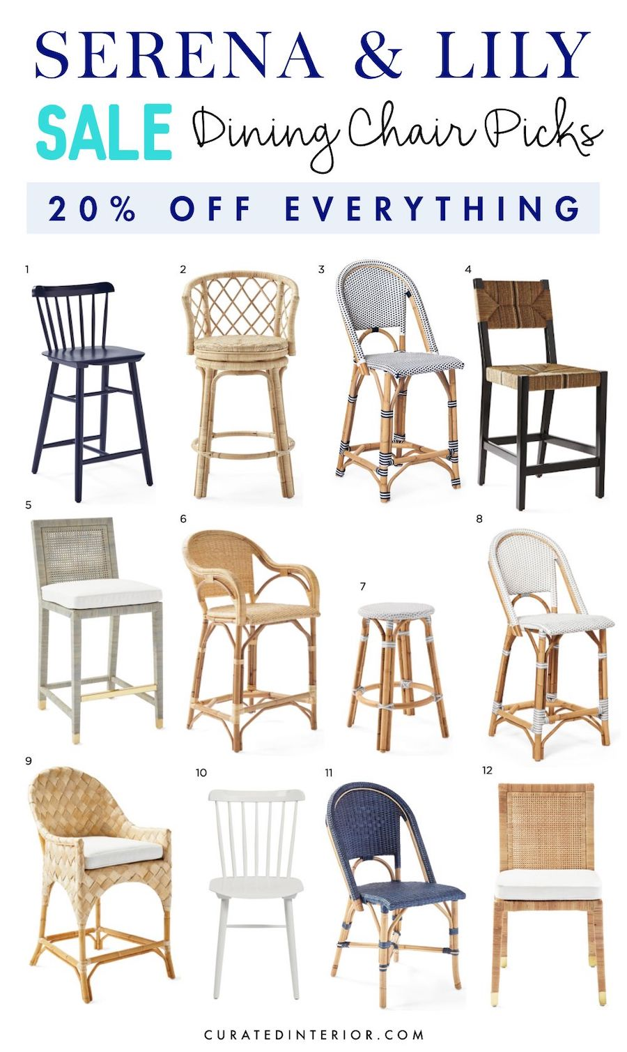 Dining Chair picks from Serena and Lily Sale