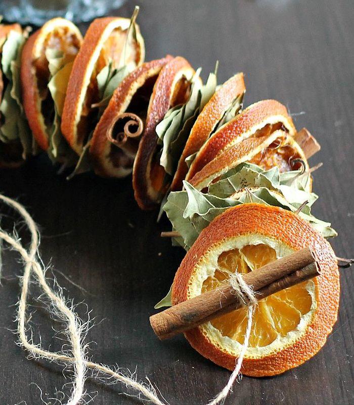 Dried Orange Garland via hearthandvine