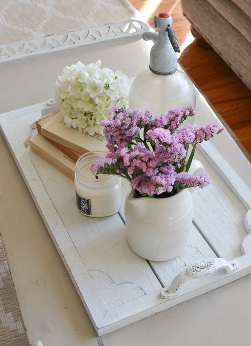 Easy DIY Farmhouse Tray via sarahjoyblog