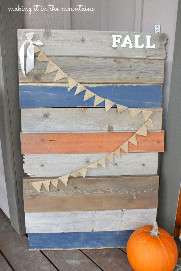 Fall Barnwood Sign via makingitinthemountains