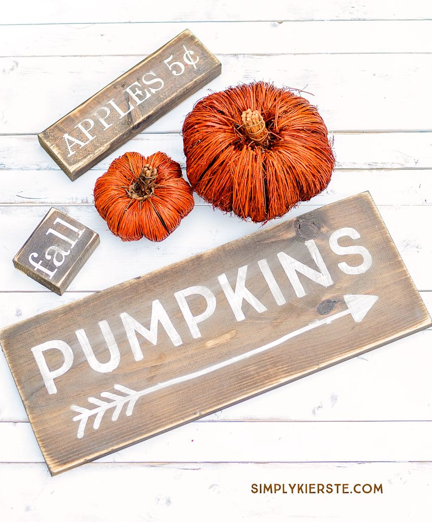 Farmhouse Wood Fall DIY Signs via oldsaltfarm
