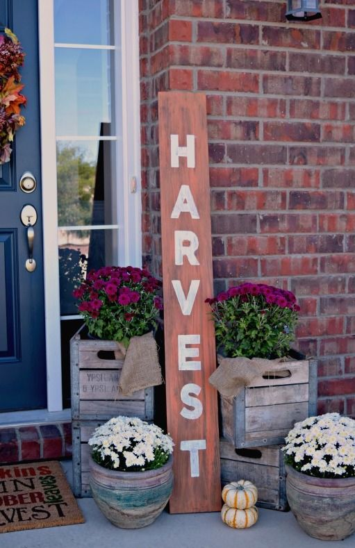Harvest DIY Long Sign via ourhomemadeeasy