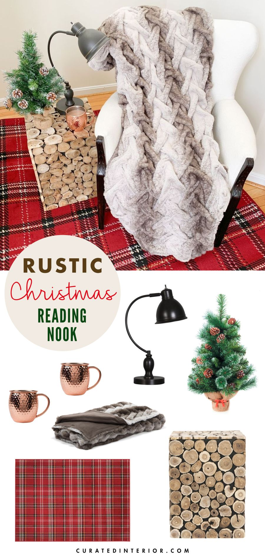 How to Create a Rustic Christmas Reading Nook