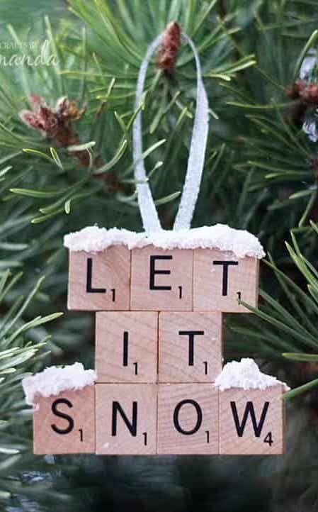 Let it snow Scrabble Ornament via craftsbyamanda