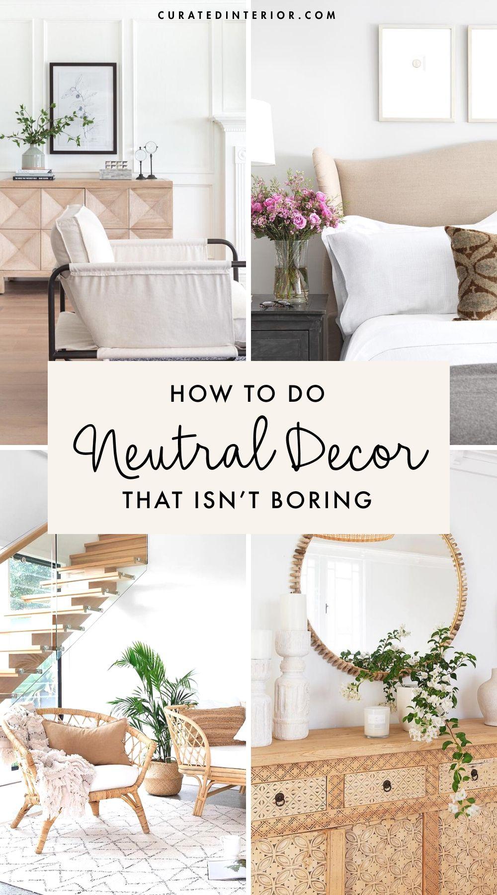 Neutral Decor that isn't boring