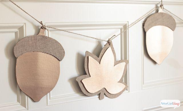 Oversized Metallic Fall Leaf Garland DIY via attagirlsays