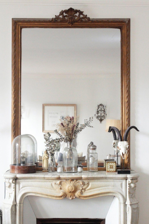 Parisian fireplace via Hello-hello Laure de Sagazan