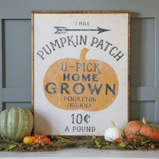 Pumpkin Patch Printable Sign via sincerelysarad