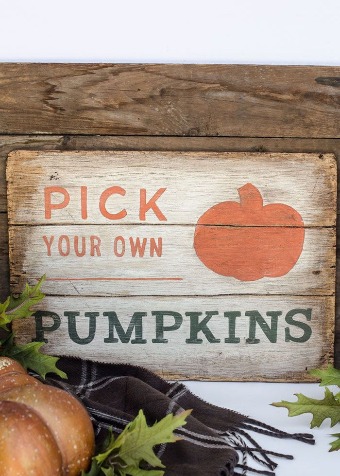 Pumpkins DIY Sign via andersonandgrant