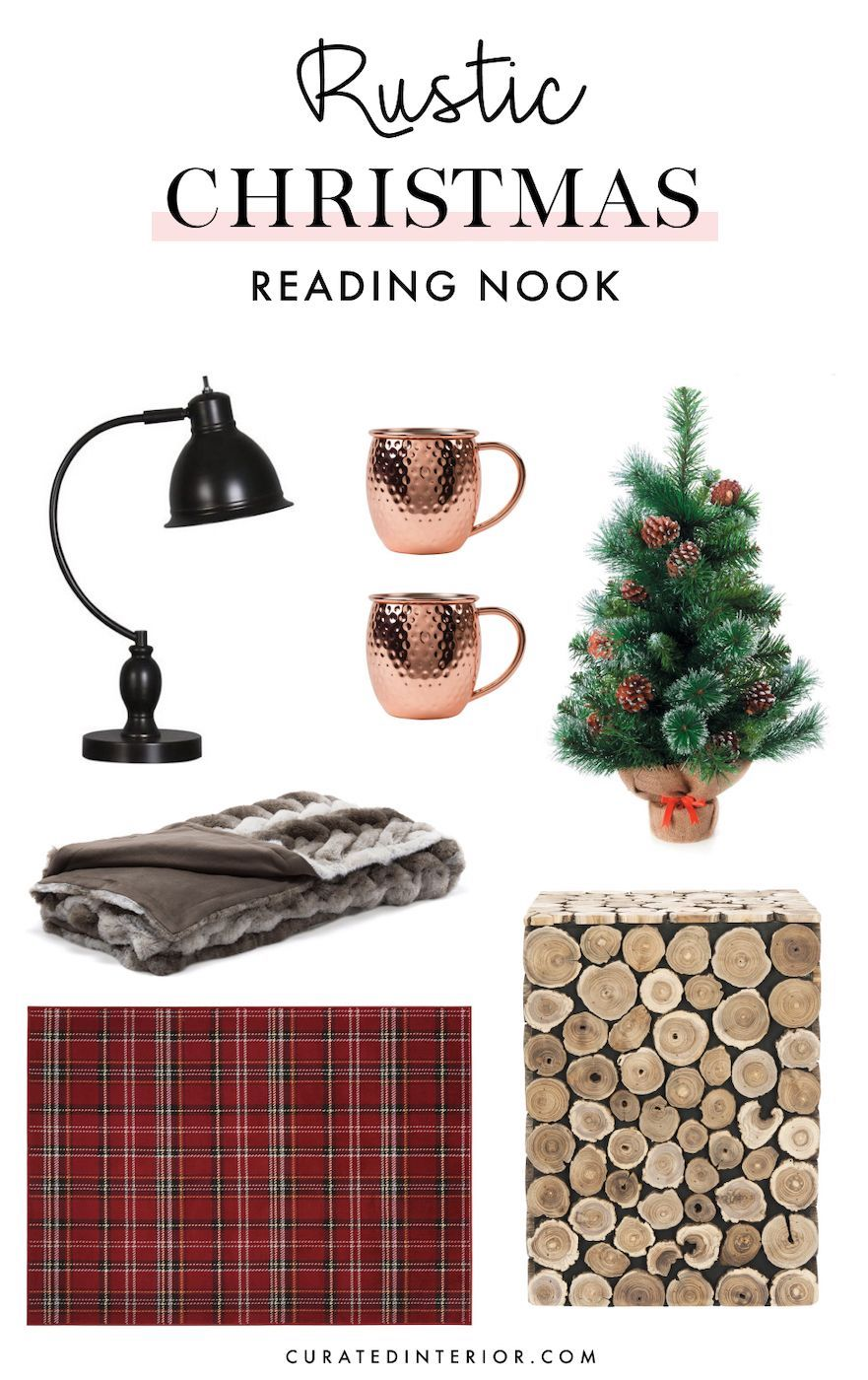 Rustic Christmas Reading Nook Decorations