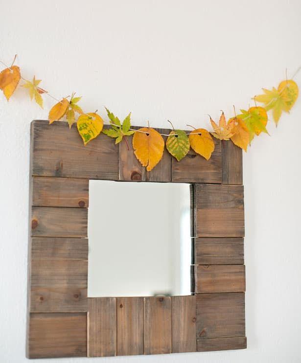 Super Easy DIY Natural Fall Leaf Garland via hellowonderful