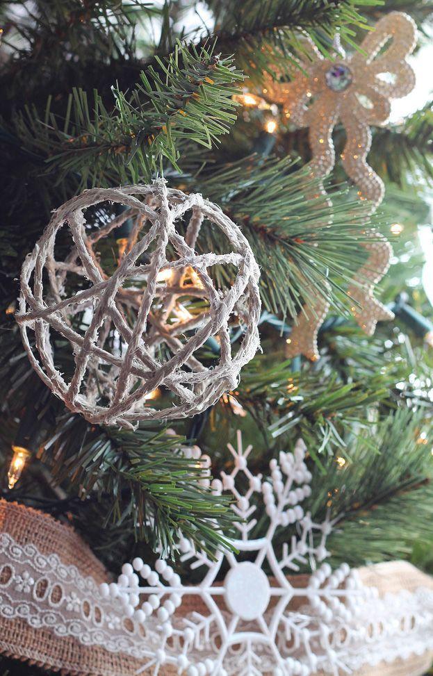 Twine Ball Ornaments via lovegrowswild