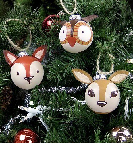 Woodland Creature Ornament DIY via decoart