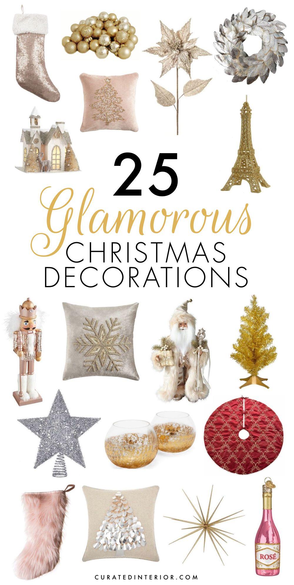 25 Modern Glam Christmas Decorations