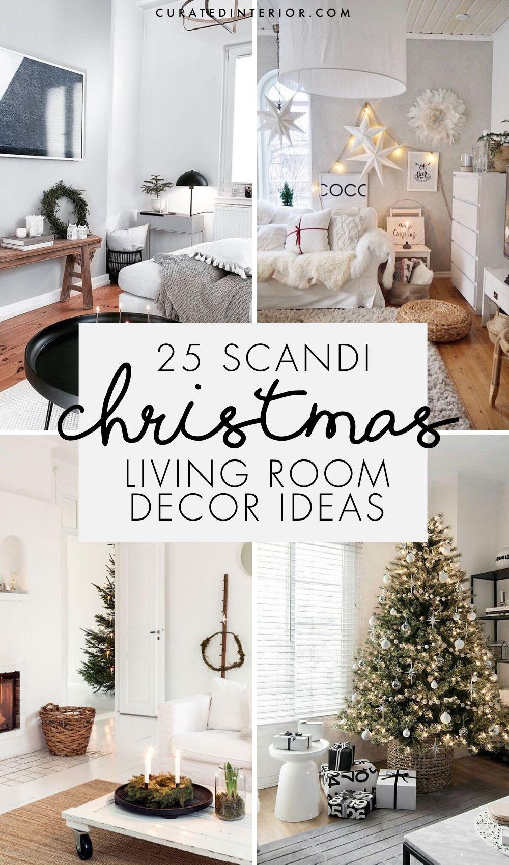 25 Scandi Christmas Living Room Decor Ideas