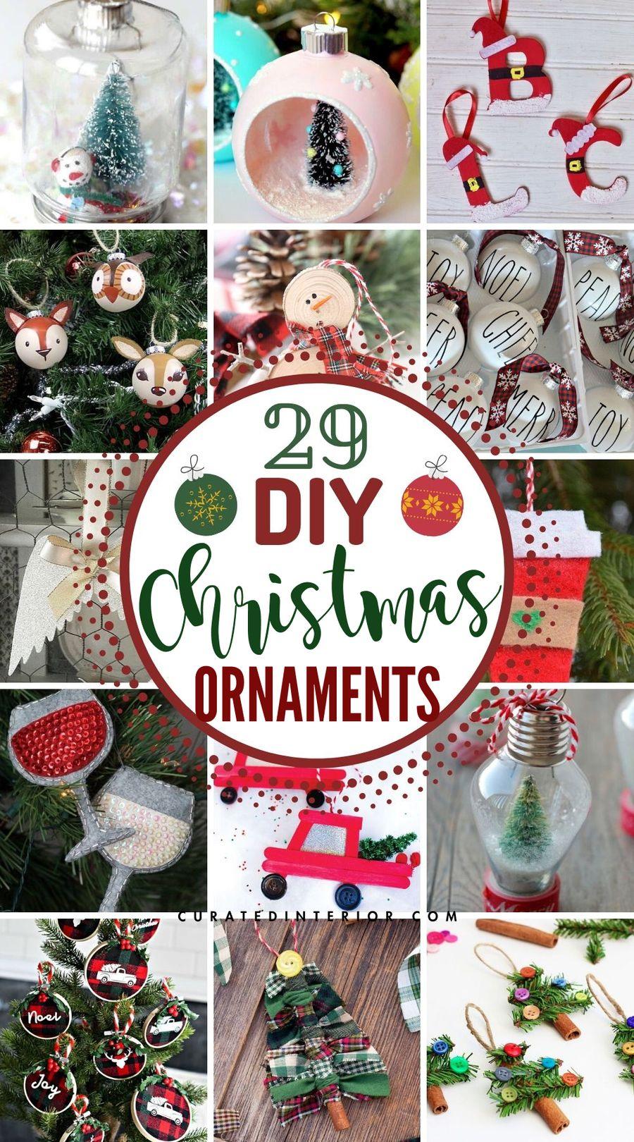 29 Easy DIY Christmas Ornaments