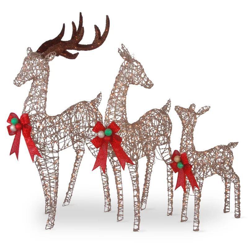 3 Piece Deer Family