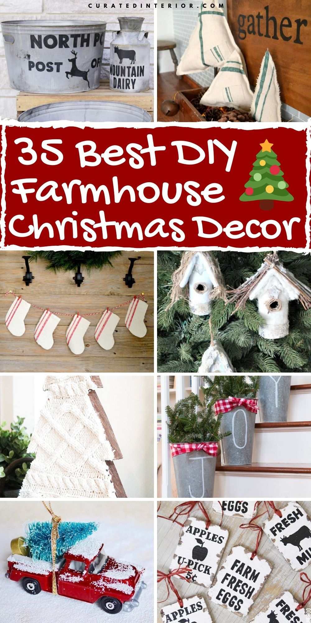 35 Diy Farmhouse Christmas Decorations