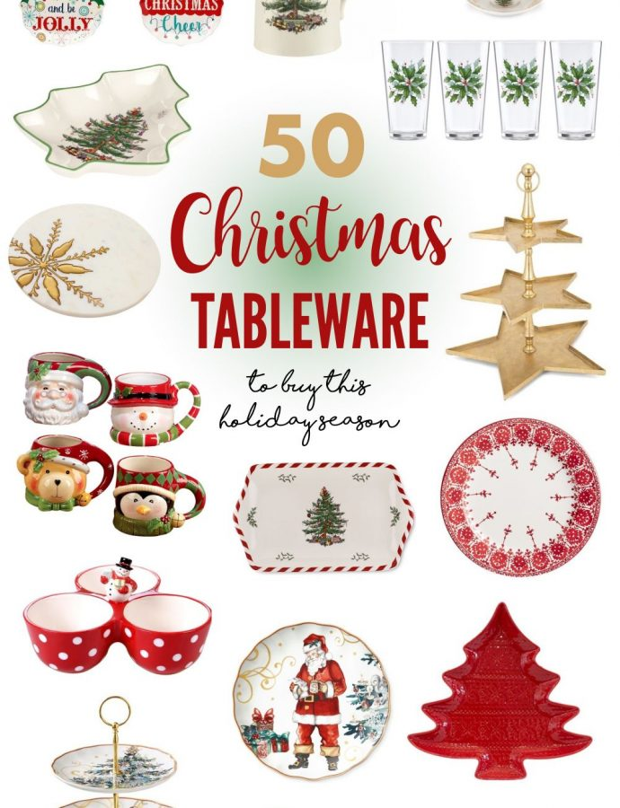 50 Best Christmas Tableware to Buy This Holiday Season