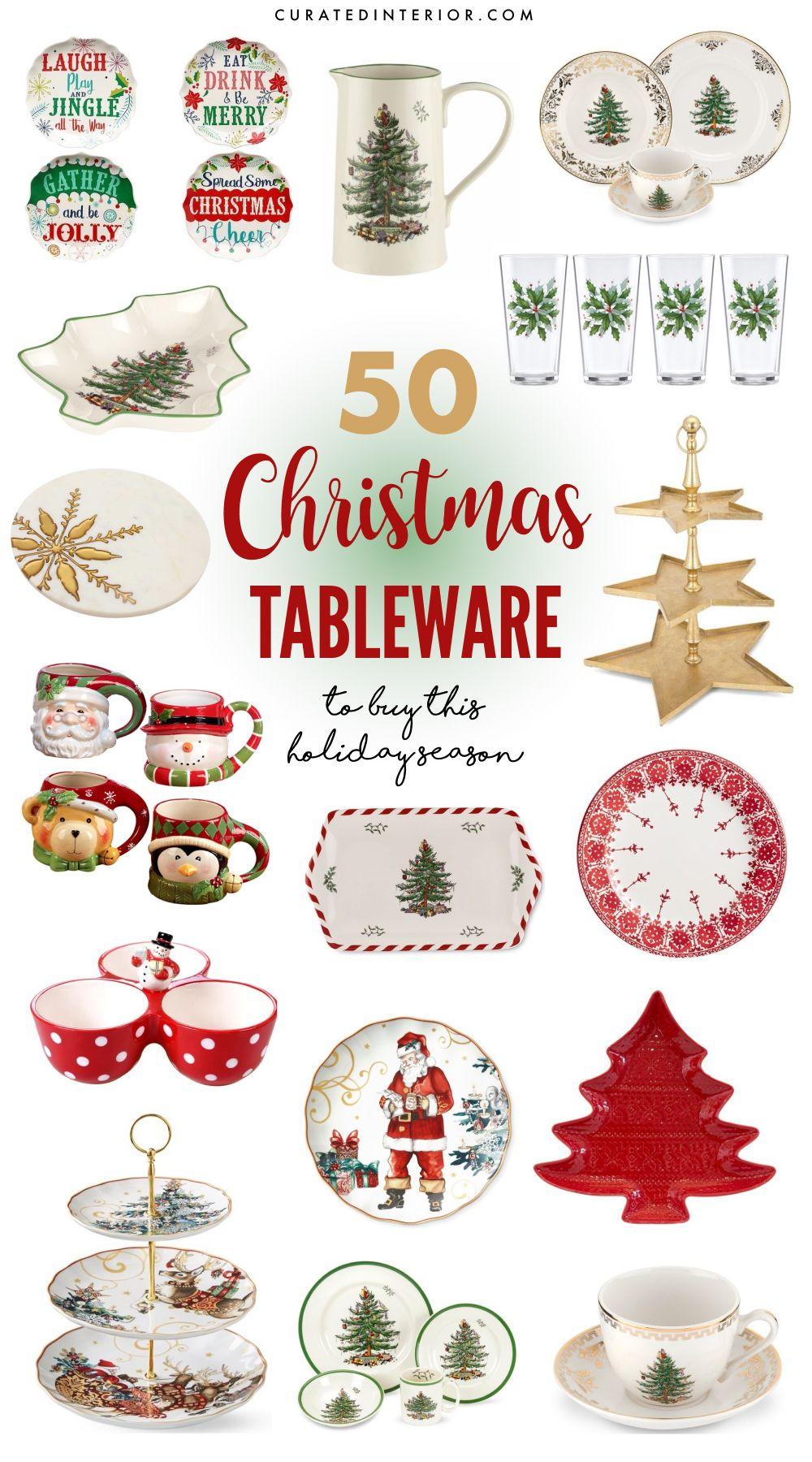 50 Best Christmas Tableware