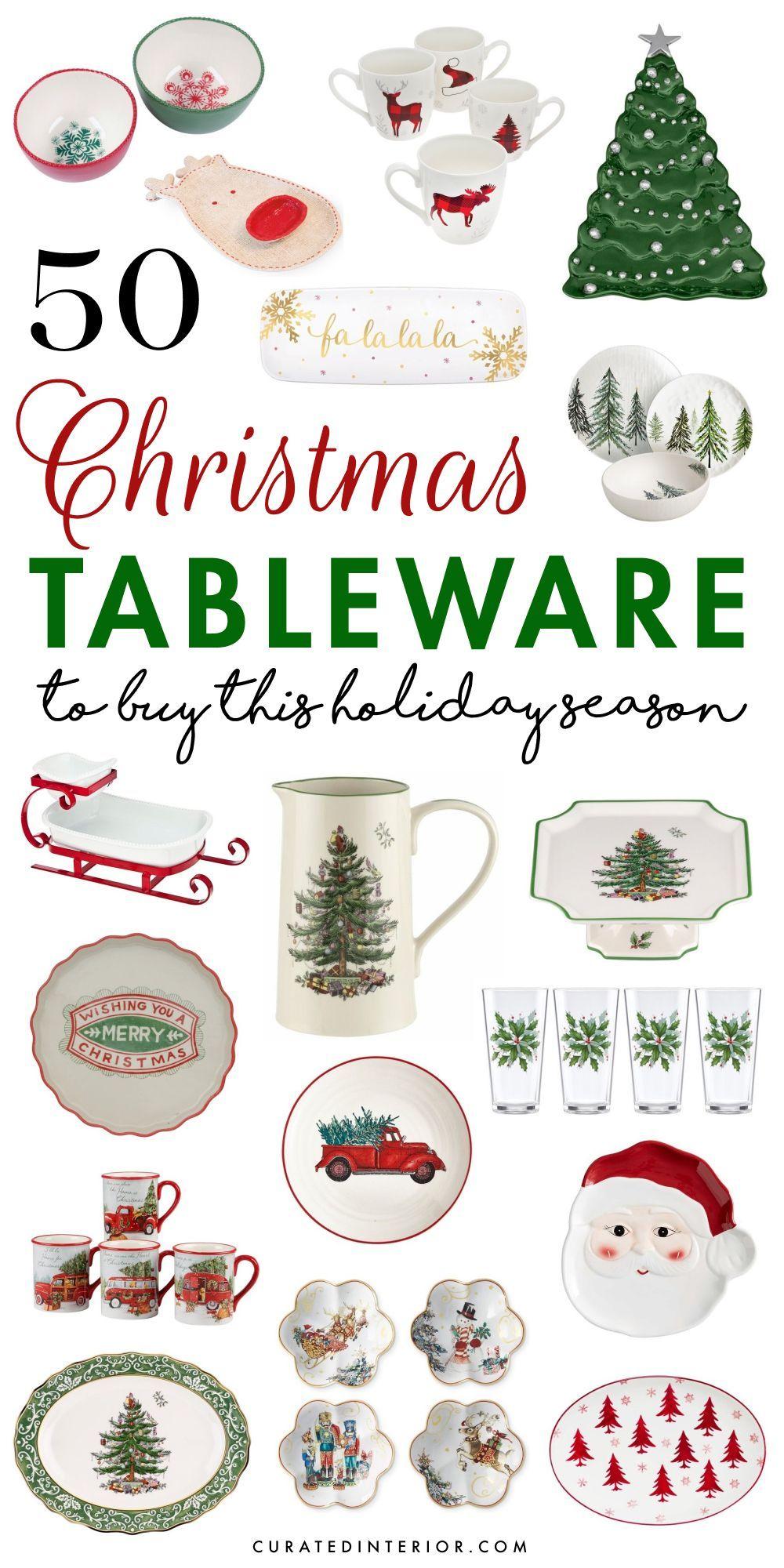 50 Christmas Tableware