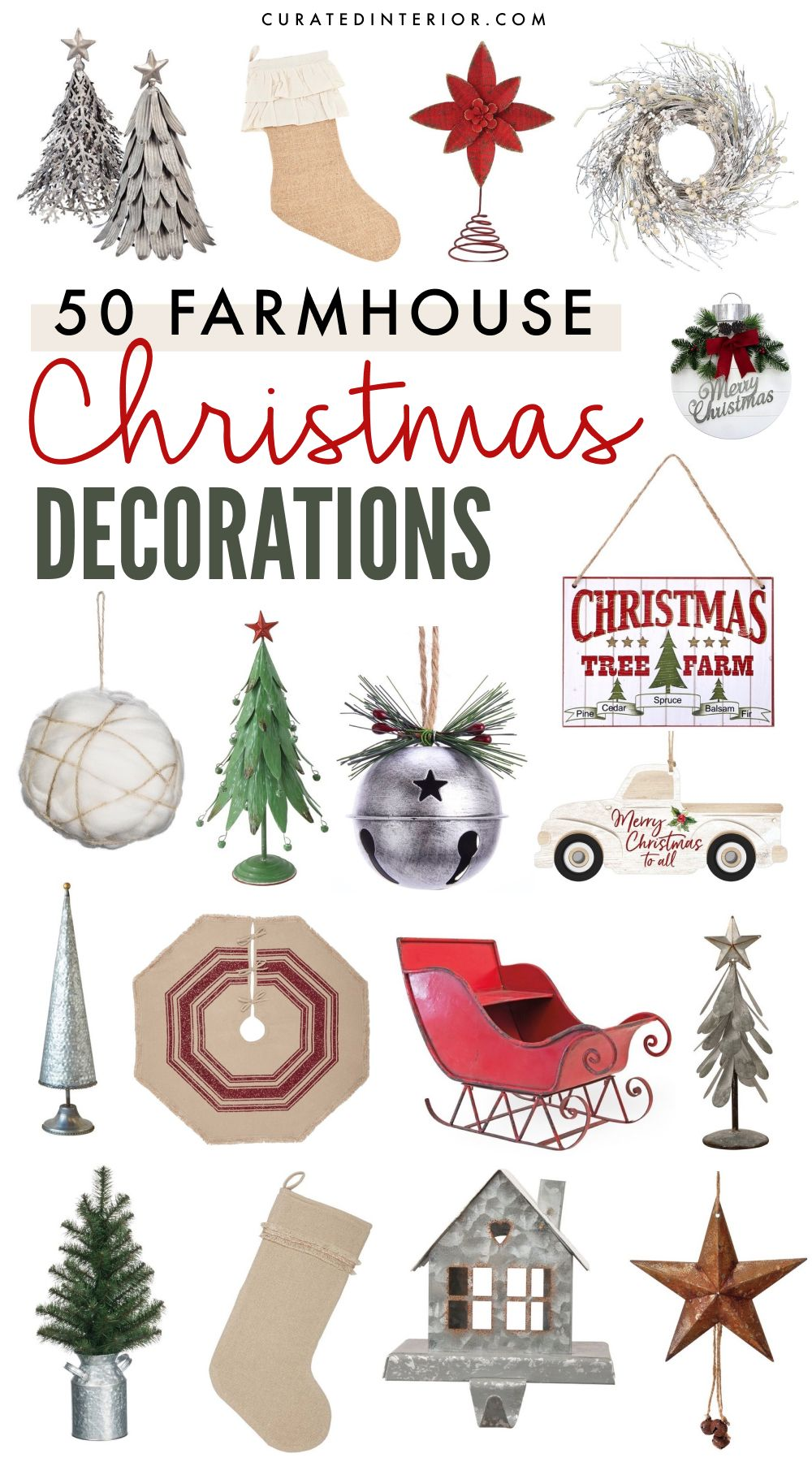 50 Festive Farmhouse Christmas Decorations