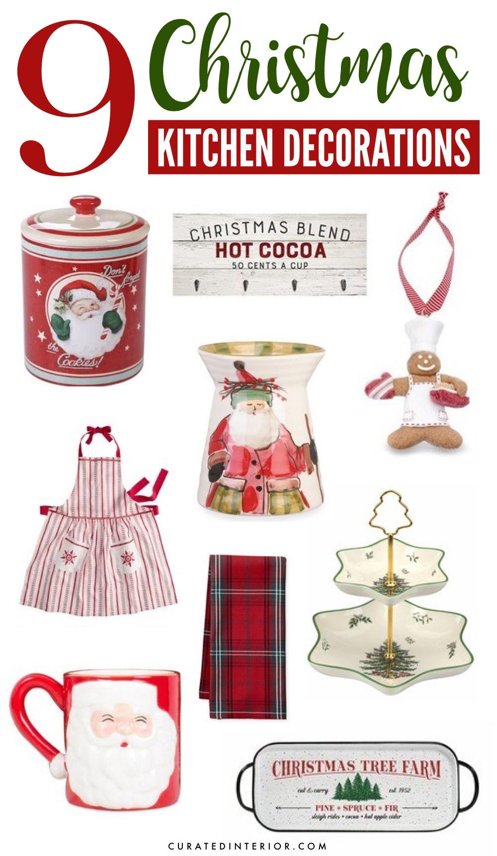 9 Christmas Kitchen Decorations