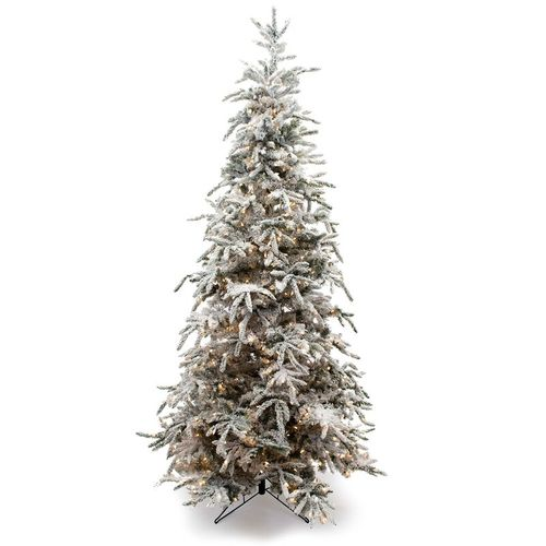 9 Foot Flocked Balsam Pine Christmas Tree
