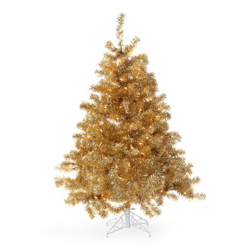 Champagne Gold Pre-Lit Tabletop Christmas Tree